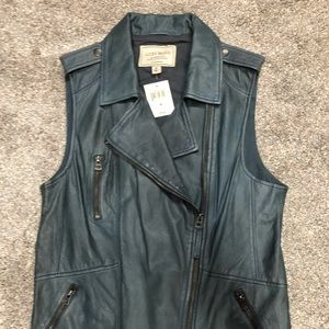 Leather Vest, NWT, Lucky Brand